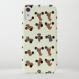 Olympic Lifting Dachshund iPhone Case