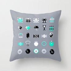 8-Bit Bling Throw Pillow