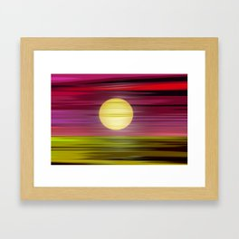 Colored is the world. Framed Art Print