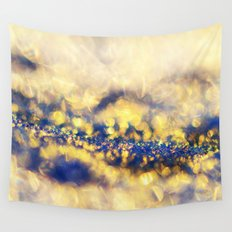 Ice Canyon in Purple and Gold Wall Tapestry