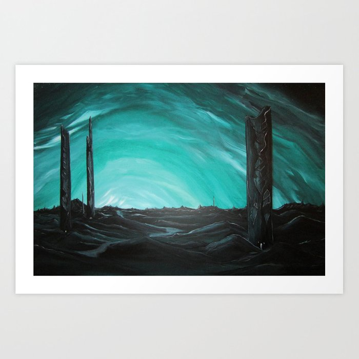 Grave Towers Art Print
