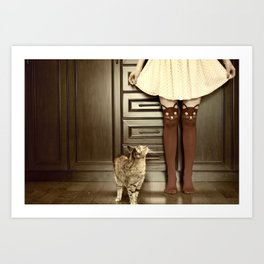 Cats and leggings Art Print