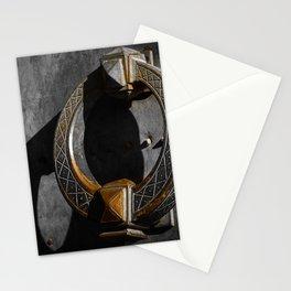 Big beautiful doorknocker on entrance door of Castel Sant'Angelo Stationery Cards