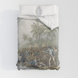 The death of Captain Cook (1785) by John WebberFrancesco Bartolozzi and William Byrne Comforters