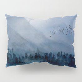 Mountainscape Under The Moonlight Pillow Sham