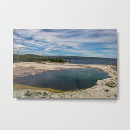 Abyss Pool, West Thumb Geyser Basin, Yellowstone National Park Metal Print