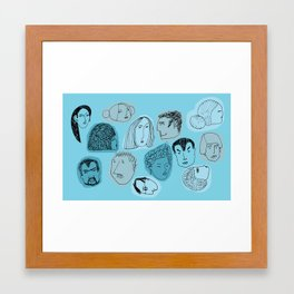 Blue Group Framed Art Print