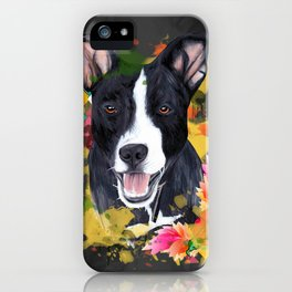 Black pup iPhone Case