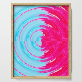 PINK WIG SWIRL Serving Tray