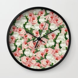 Juliet -  Romantic Roses Wall Clock
