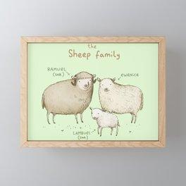 The Sheep Family Framed Mini Art Print