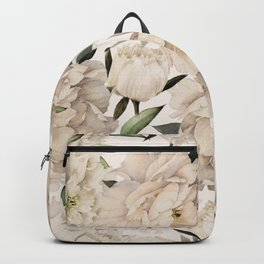 Peonies Pattern Backpack