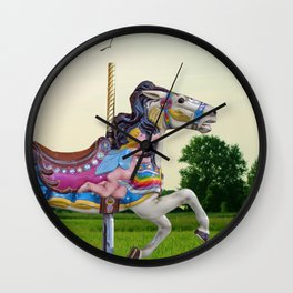 Wood horse Nature Wall Clock