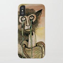Sad Monkey iPhone Case