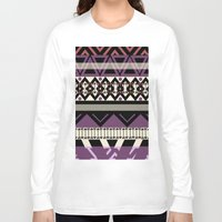 navajo Long Sleeve T-shirts featuring navajo blanket by littlehomesteadco