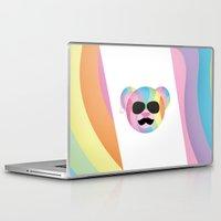 bondage Laptop & iPad Skins featuring Punk Rainbow Bondage Bear by YOSH FRIDAY
