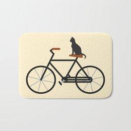 Cat Riding Bike Bath Mat