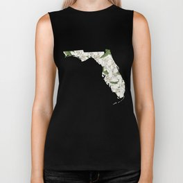 Florida in Flowers Biker Tank