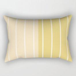 Two Tone Stripes - Yellow Rectangular Pillow