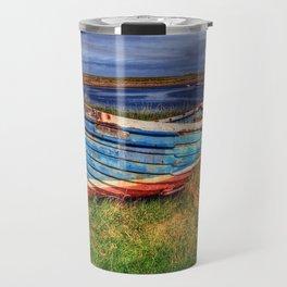 Lindisfarne By The Sea Travel Mug