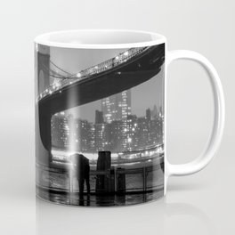 Brooklyn Bridge on a rainy night Coffee Mug