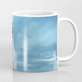 New Cape Henry Lighthouse Under Ominous Clouds Coffee Mug