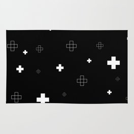 Cross Cross Black Rug