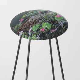 Mermaid,lilypads Counter Stool