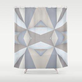Origami - White Shower Curtain