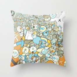 Nested Composition 3 Throw Pillow