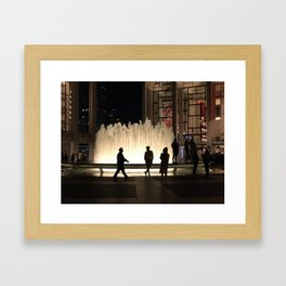A Fountain in Simpler Times Framed Art Print