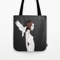 ruben Tote Bags featuring Only You by Ruben Ireland