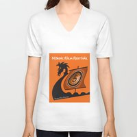 nordic V-neck T-shirts featuring Nordic Film Festival by Kimberly Filko