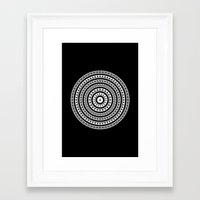 buddhism Framed Art Prints featuring MANDALA IM ZÜRICH by THE USUAL DESIGNERS