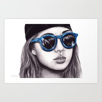 coachella Art Prints featuring Coachella  by Bella Harris