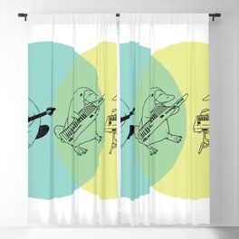 Keytar Platypus Venn Diagram Blackout Curtain