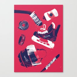Tools of a Hockey Player Canvas Print