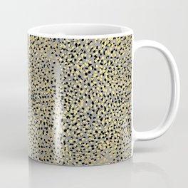 Colvi - leopard animal print gold black and white gender neutral modern trendy non binary art decor Coffee Mug