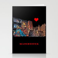 manchester Stationery Cards featuring Colourful MANchester by inkedsandra