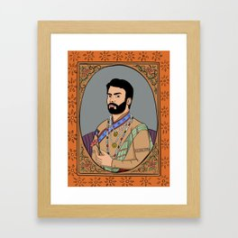 Fawad Khan Framed Art Print