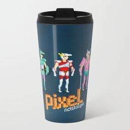 Saint Seiya - Pixel Nostalgia Metal Travel Mug