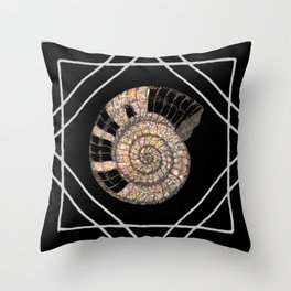 Classy Shell Spiral Throw Pillow