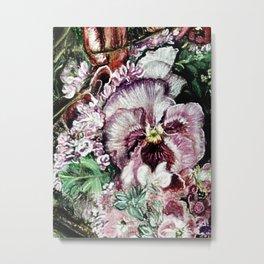 CRAYON LOVE - Springflowers Metal Print