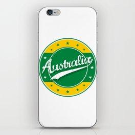 Australia, circle, green yellow iPhone Skin