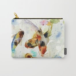 Watercolor Koi Pond Carry-All Pouch