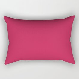 Monotonous, crimson, red Rectangular Pillow