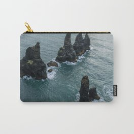 Sea stacks on the Icelandic Coast near Vik - Landscape Photography Carry-All Pouch