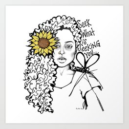 #STUKGIRL QUEEN Art Print