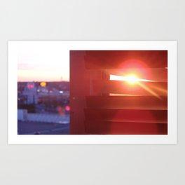 Stalking the sunset Art Print