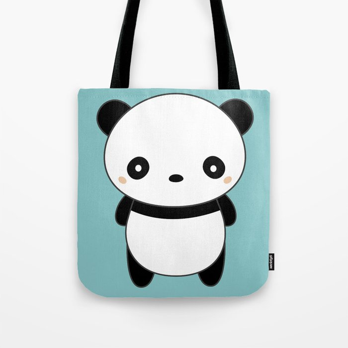 Kawaii Cute Panda Tote Bag by wordsberry  3ac64bc8abbc2